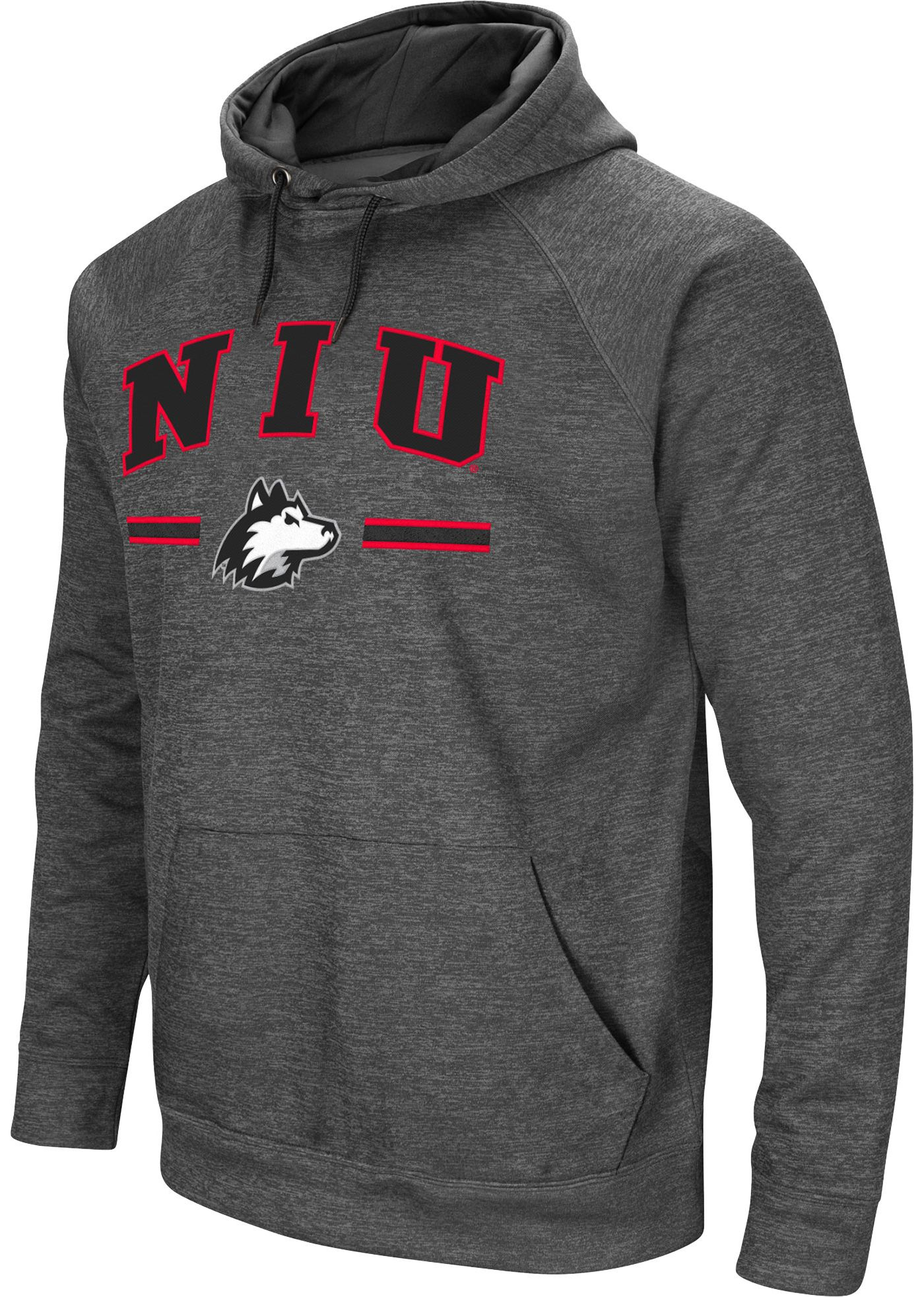 Colosseum Men's Northern Illinois Huskies Grey Pullover Hoodie