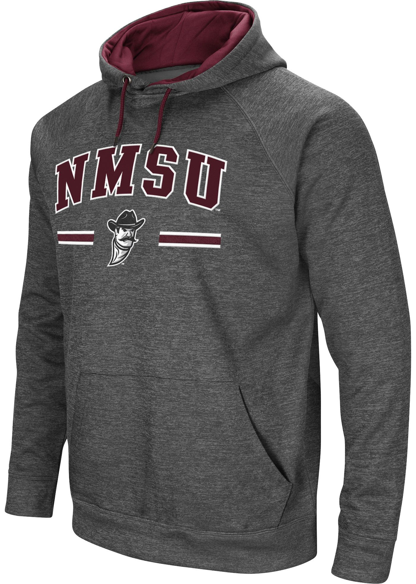 Colosseum Men's New Mexico State Aggies Grey Pullover Hoodie