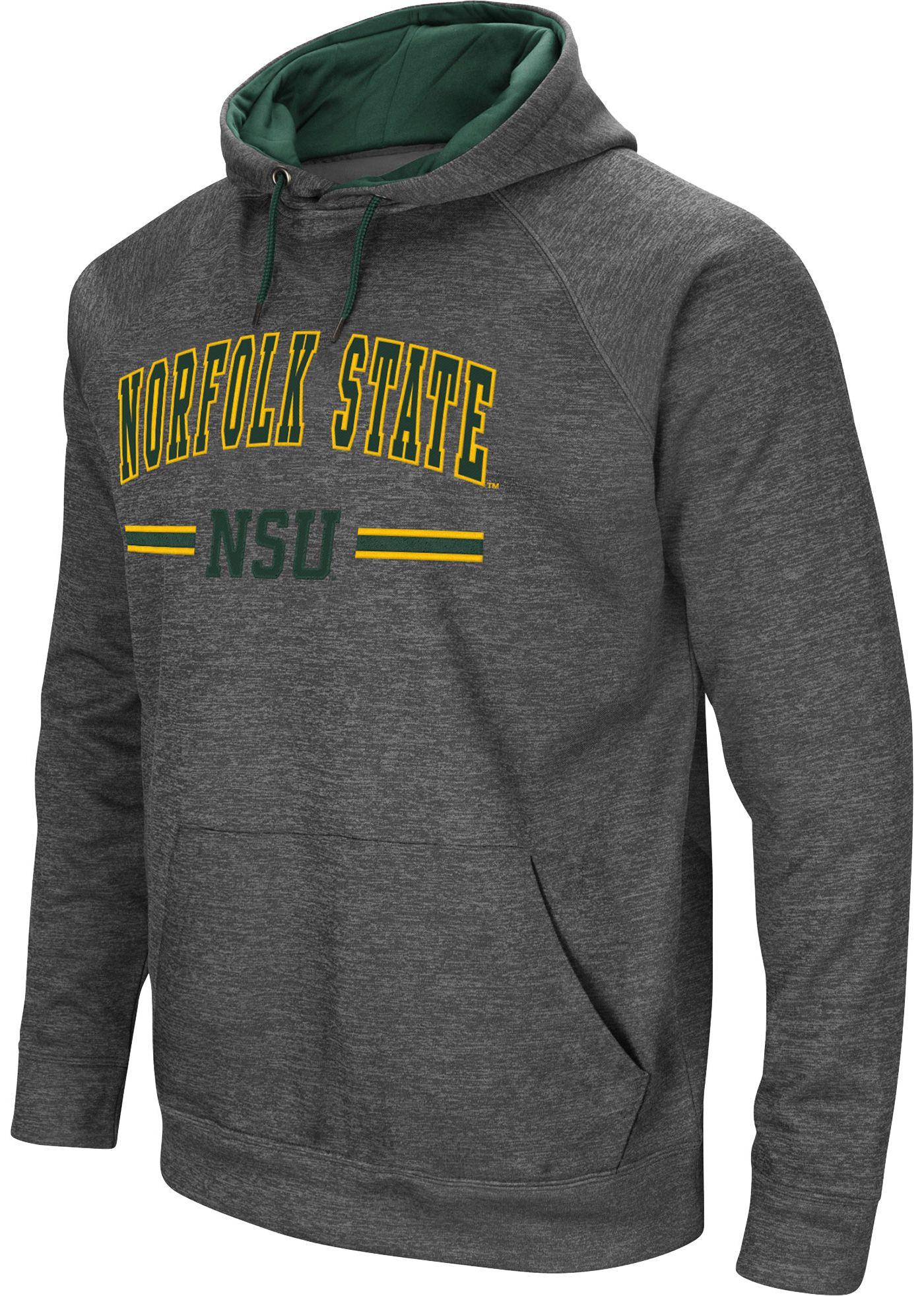 Colosseum Men's Norfolk State Spartans Grey Pullover Hoodie