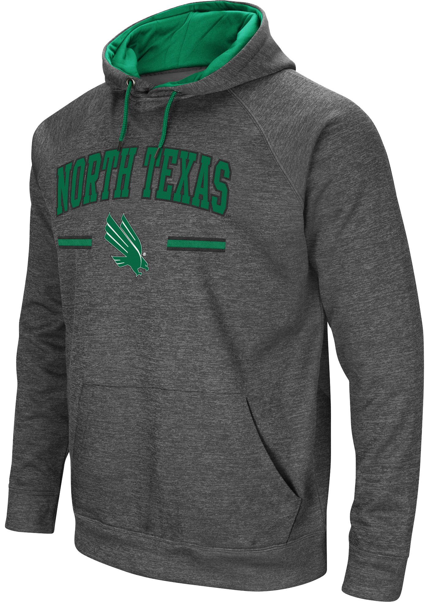 Colosseum Men's North Texas Mean Green Grey Pullover Hoodie