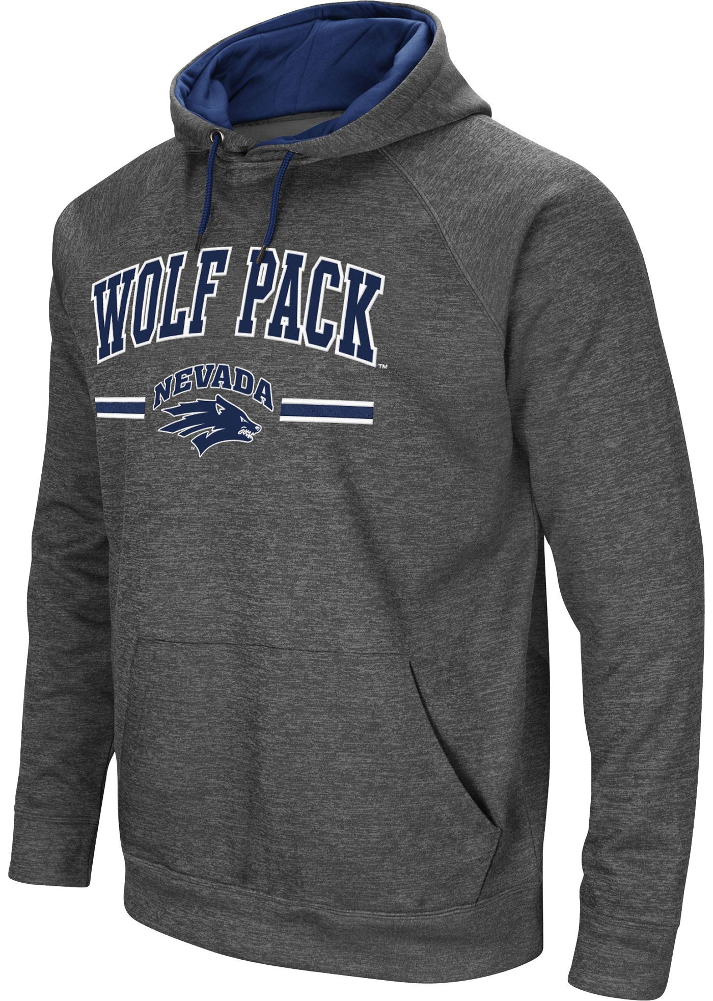 Colosseum Men's Nevada Wolf Pack Grey Pullover Hoodie