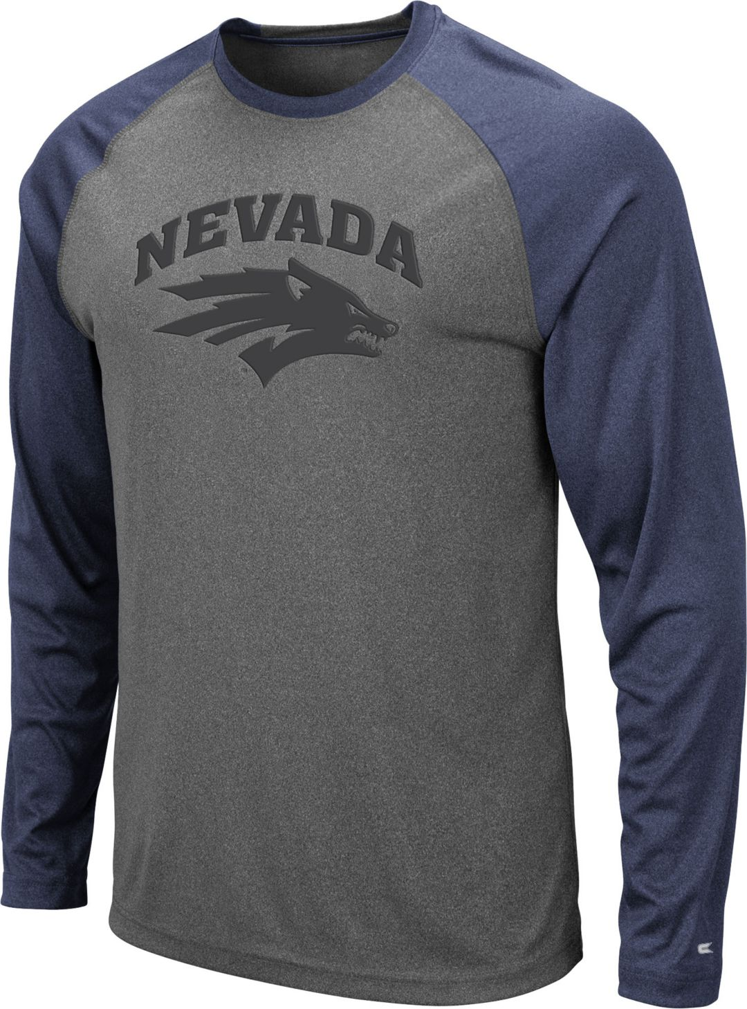 online store 837f2 5e8bd Colosseum Men's Nevada Wolf Pack Grey Rad Tad Raglan Long Sleeve T-Shirt