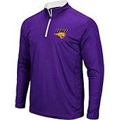 Colosseum Men's Northern Iowa Panthers  Purple Loggerhead Quarter-Zip Shirt