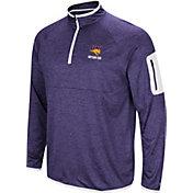 Colosseum Men's Northern Iowa Panthers  Purple Indus River Quarter-Zip Shirt