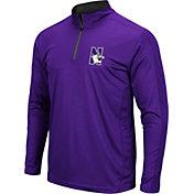 Colosseum Men's Northwestern Wildcats Purple Loggerhead Quarter-Zip Shirt
