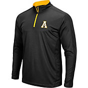 Colosseum Men's Appalachian State Mountaineers Loggerhead Quarter-Zip Black Shirt