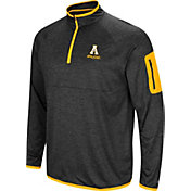 Colosseum Men's Appalachian State Mountaineers Indus River Quarter-Zip Black Shirt