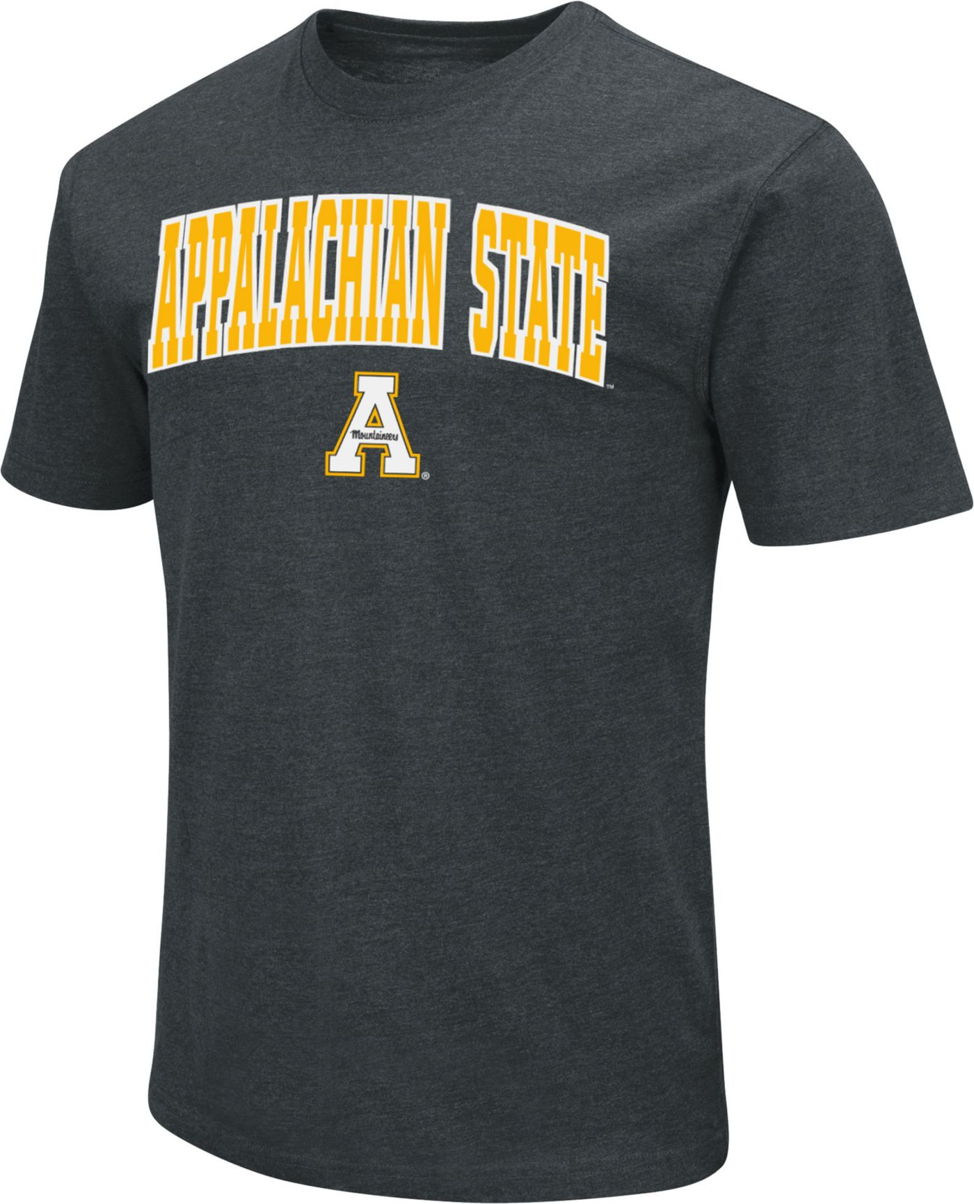 Colosseum Men's Appalachian State Mountaineers Dual Blend Black T-Shirt