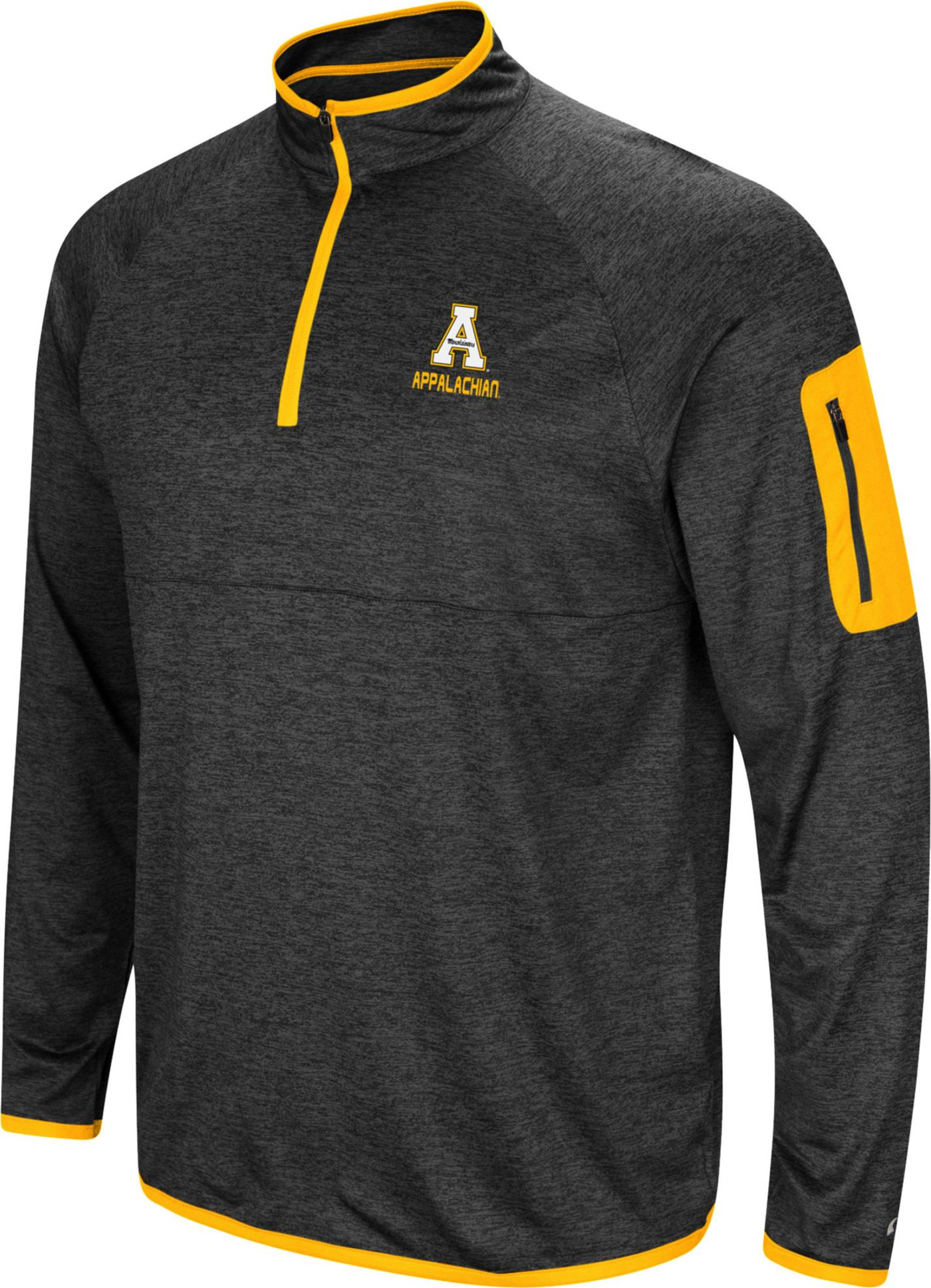 Colosseum Men's Appalachian State Mountaineers Grey Indus River Quarter-Zip Shirt