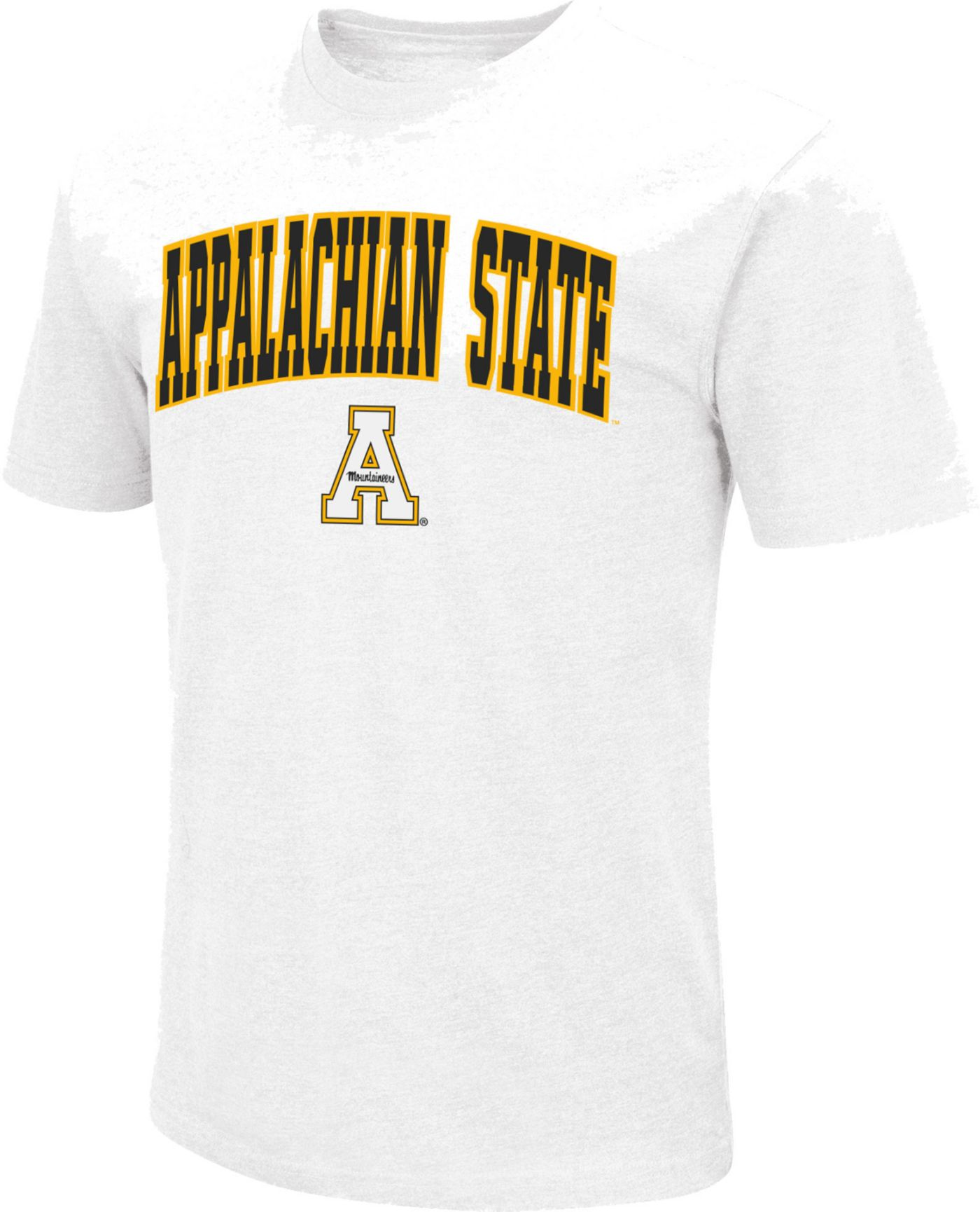 Colosseum Men's Appalachian State Mountaineers Dual Blend White T-Shirt