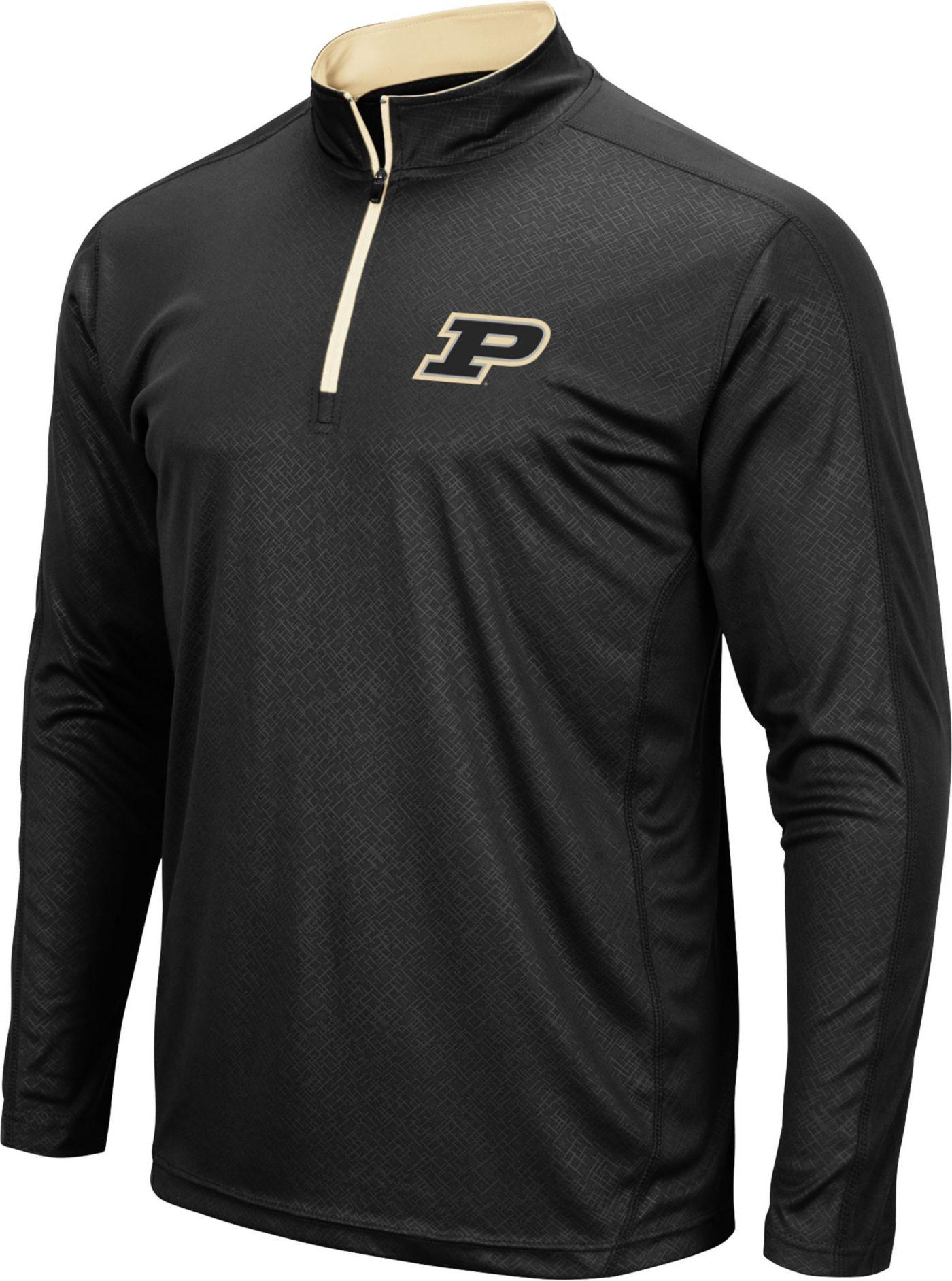 Colosseum Men's Purdue Boilermakers Loggerhead Quarter-Zip Black Shirt