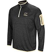 Colosseum Men's Purdue Boilermakers Indus River Quarter-Zip Black Shirt