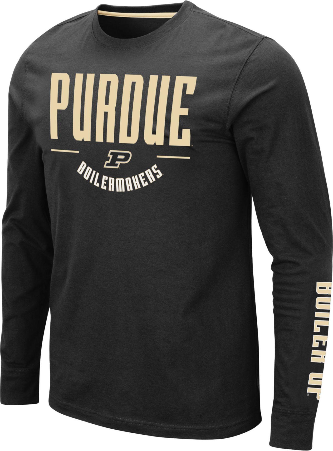 Colosseum Men's Purdue Boilermakers Streetcar Long Sleeve Black T-Shirt