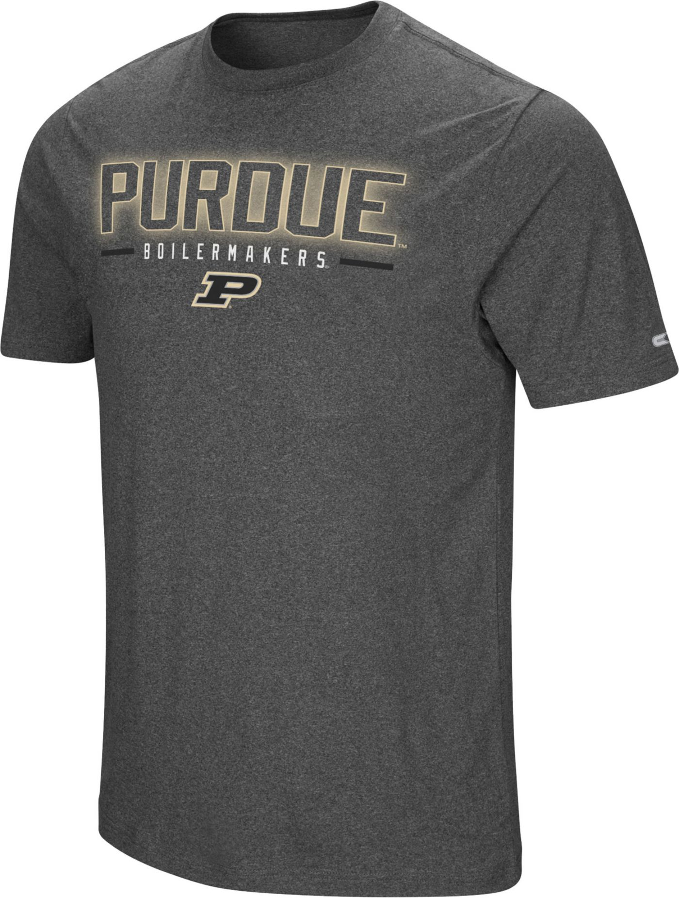 Colosseum Men's Purdue Boilermakers Grey Bluefin T-Shirt