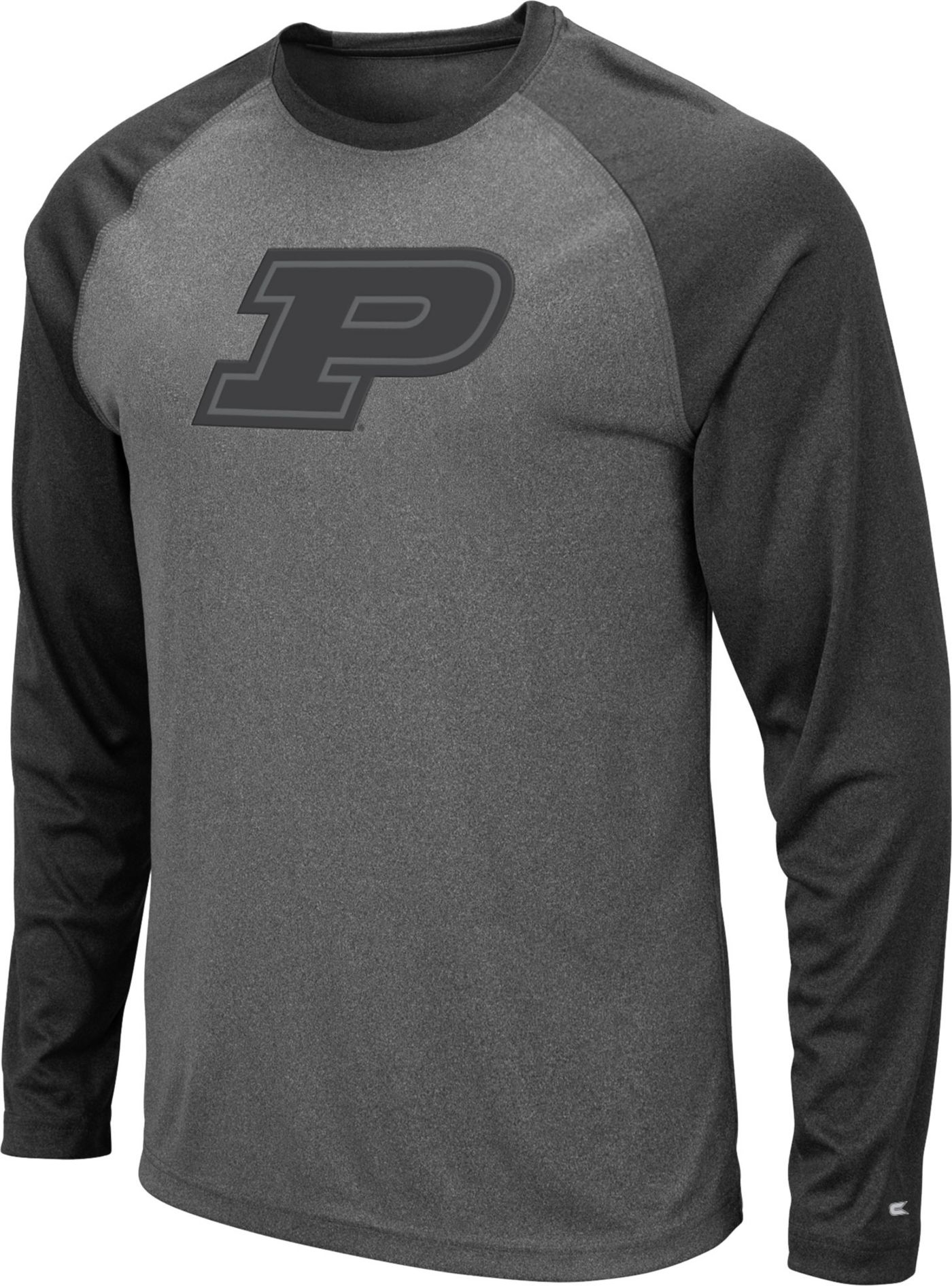 Colosseum Men's Purdue Boilermakers Grey Rad Tad Raglan Long Sleeve T-Shirt