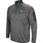 Colosseum Men's Portland State Vikings Grey Indus River Quarter-Zip Shirt