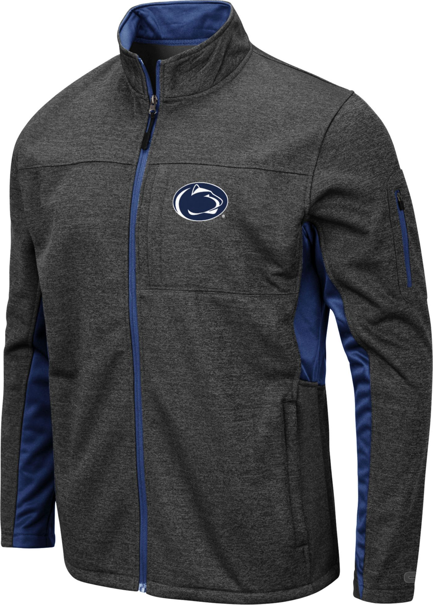Colosseum Men's Penn State Nittany Lions Grey Bumblebee Man Full-Zip Jacket