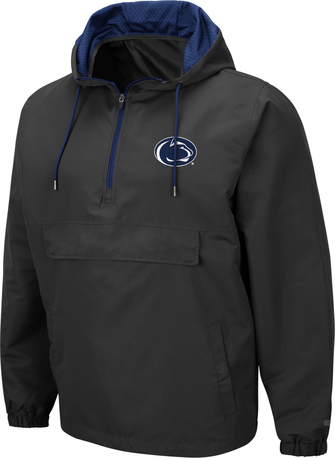 Colosseum Men's Penn State Nittany Lions Grey Dolph Half-Zip Jacket