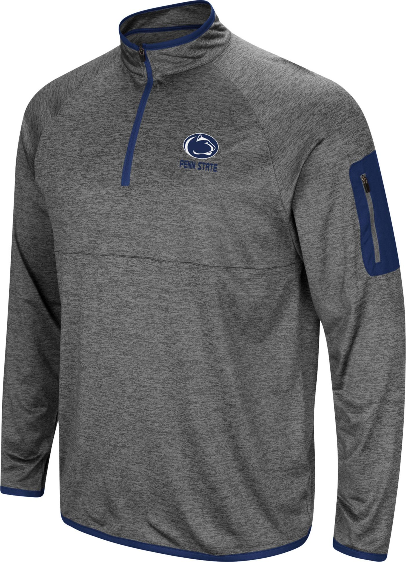 Colosseum Men's Penn State Nittany Lions Grey Indus River Quarter-Zip Shirt