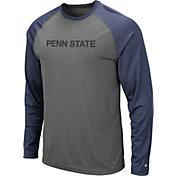 Colosseum Men's Penn State Nittany Lions Grey Rad Tad Raglan Long Sleeve T-Shirt