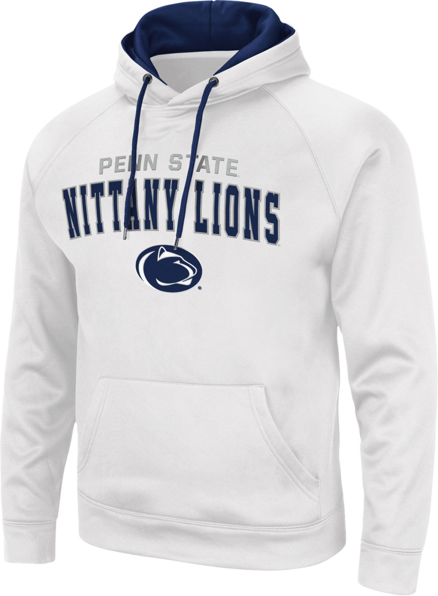 Colosseum Men's Penn State Nittany Lions Pullover White Hoodie