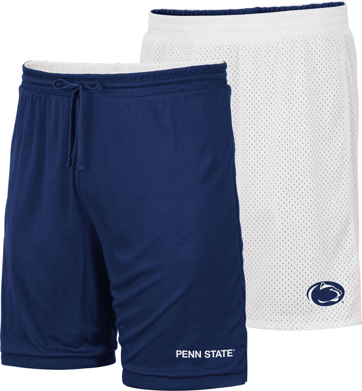 Colosseum Men's Penn State Nittany Lions Blue/White Wiggum Reversible Shorts