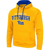 Colosseum Men's Pitt Panthers Gold Pullover Hoodie