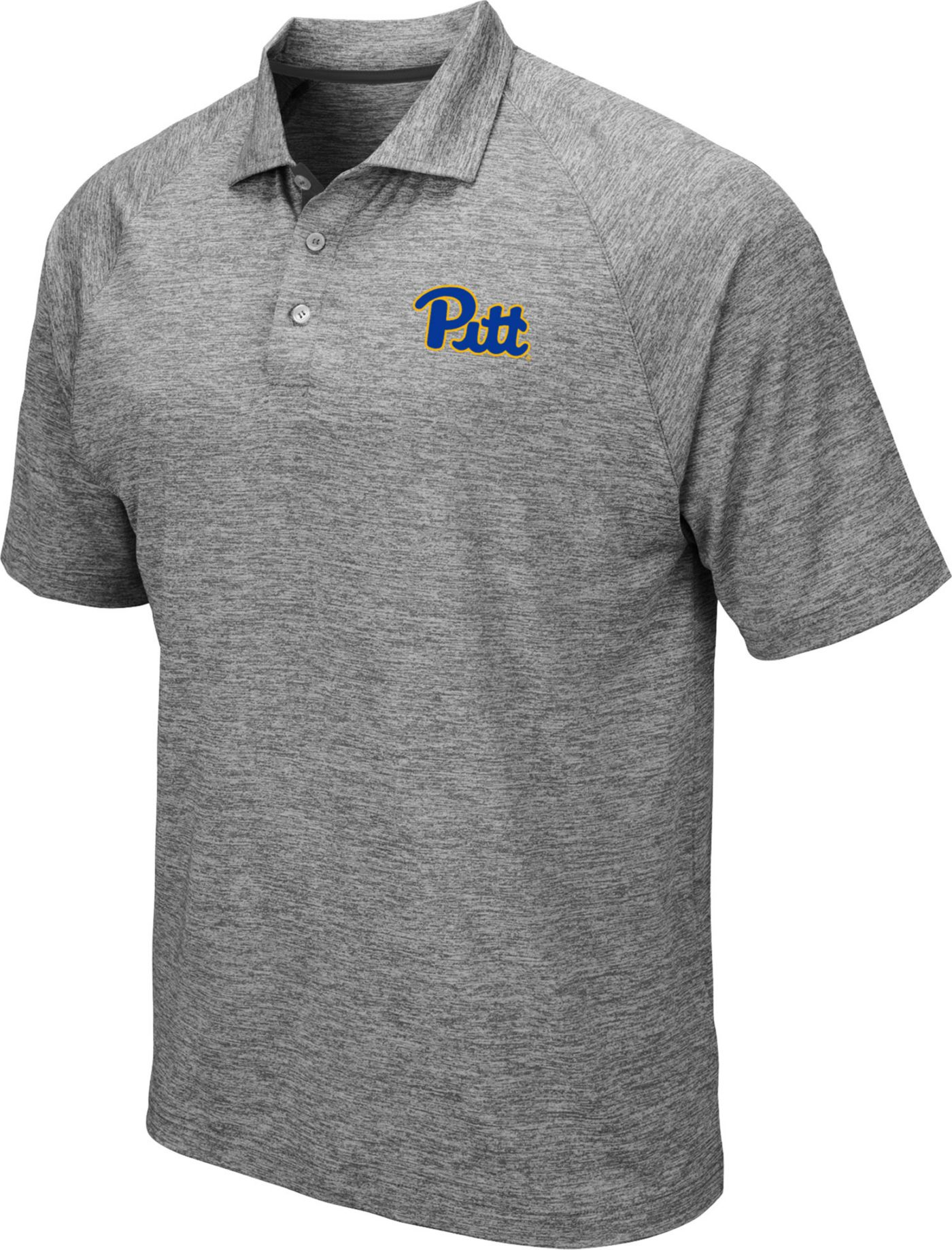 Colosseum Men's Pitt Panthers Grey Polo