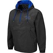Colosseum Men's Pitt Panthers Grey Dolph Half-Zip Jacket