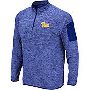 Colosseum Men's Pitt Panthers Blue Quarter-Zip Shirt