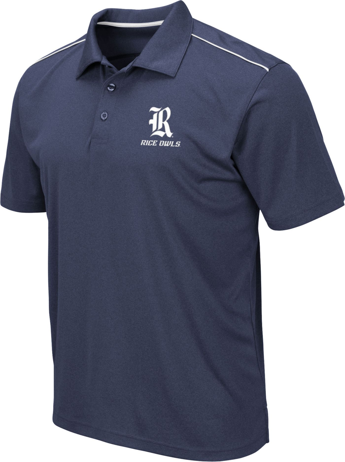 Colosseum Men's Rice Owls Blue Eagle Polo