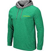 Colosseum Men's Oregon Ducks Green Milhouse Long Sleeve Hooded T-Shirt
