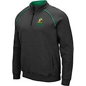 Colosseum Men's Oregon Ducks Grey VF Staghorn Quarter-Zip Shirt