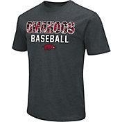 Colosseum Men's Arkansas Razorbacks 'Omahogs' Dual Blend Black T-Shirt