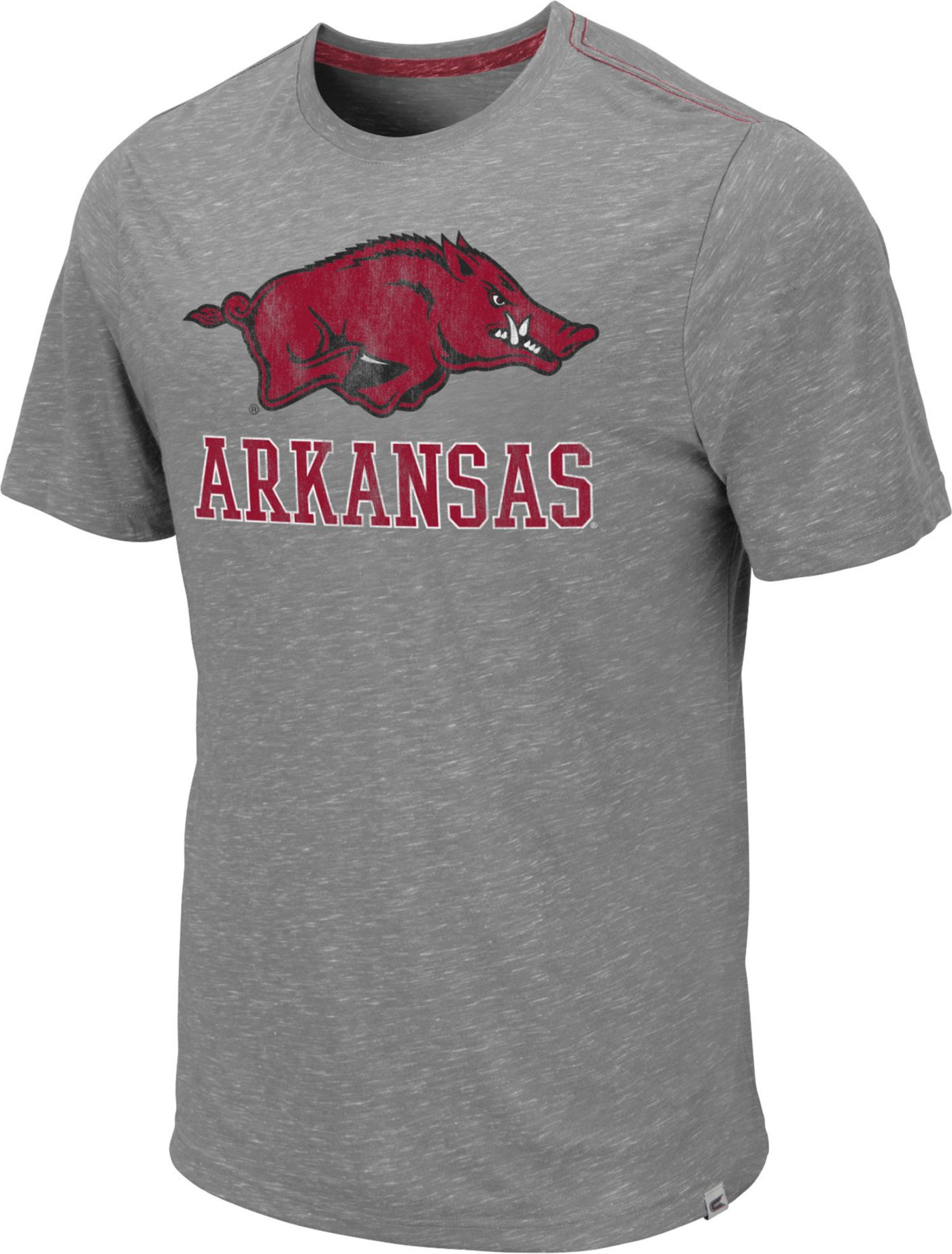 Colosseum Men's Arkansas Razorbacks Grey Campinas T-Shirt