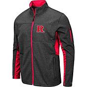 Colosseum Men's Rutgers Scarlet Knights Grey Bumblebee Man Full-Zip Jacket