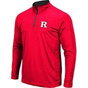 Colosseum Men's Rutgers Scarlet Knights Scarlet Loggerhead Quarter-Zip Shirt