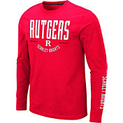 Colosseum Men's Rutgers Scarlet Knights Scarlet Streetcar Long Sleeve T-Shirt