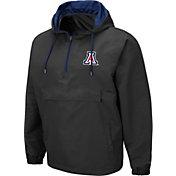 Colosseum Men's Arizona Wildcats Grey Dolph Half-Zip Jacket