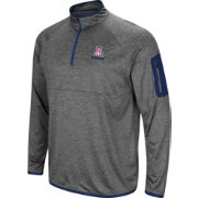 Colosseum Men's Arizona Wildcats Grey Indus River Quarter-Zip Shirt