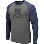 Colosseum Men's Arizona Wildcats Grey Rad Tad Raglan Long Sleeve T-Shirt