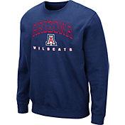 Colosseum Men's Arizona Wildcats Navy Comic Book Crew Sweatshirt