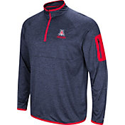 Colosseum Men's Arizona Wildcats Navy Indus River Quarter-Zip Shirt