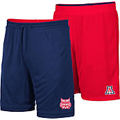 Colosseum Men's Arizona Wildcats Navy/Cardinal Wiggum Reversible Shorts