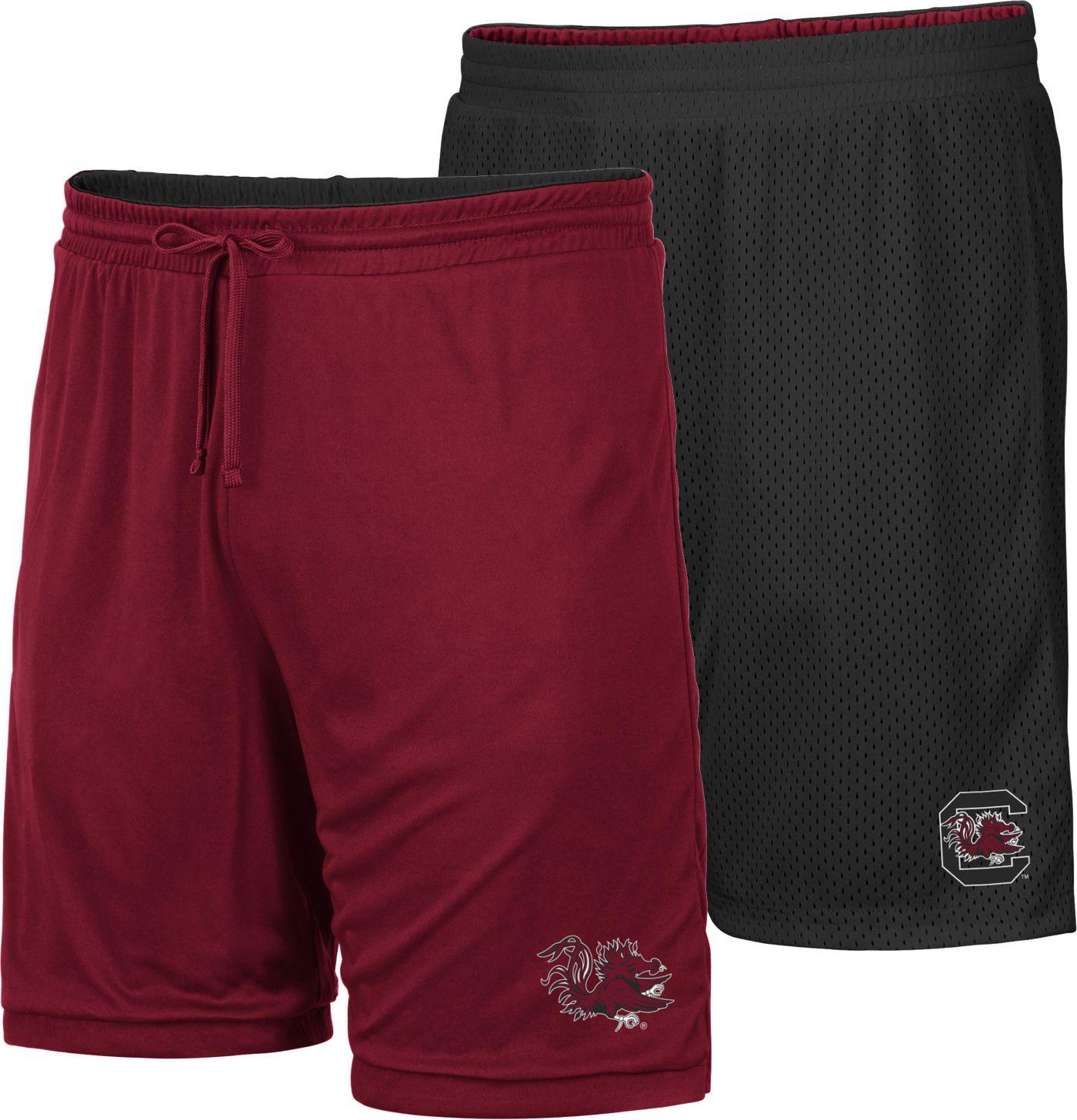 Colosseum Men's South Carolina Gamecocks Garnet/Black Wiggum Reversible Shorts
