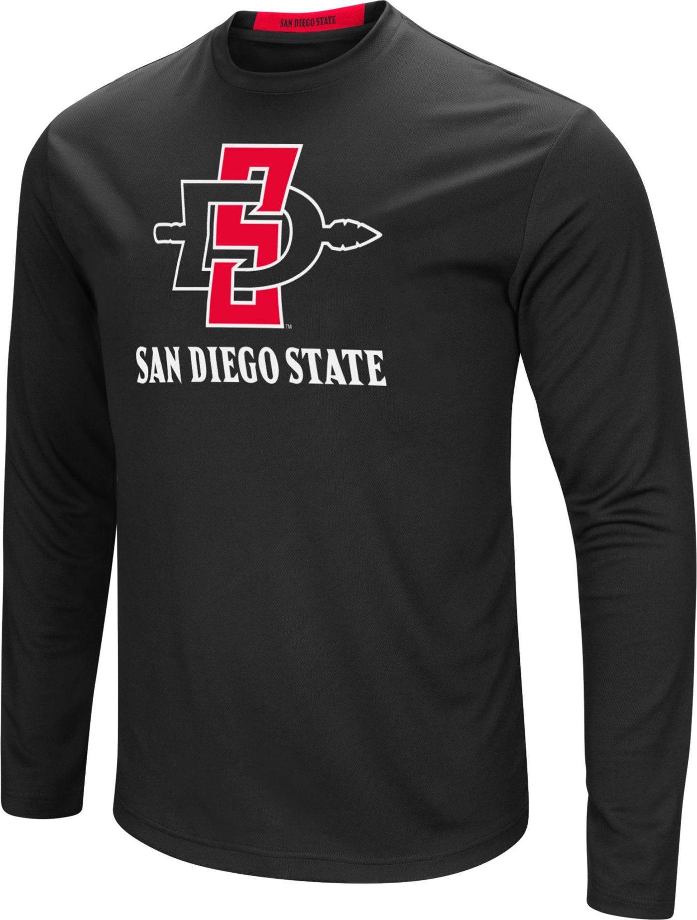 Colosseum Men's San Diego State Aztecs Ganges Long Sleeve Black T-Shirt