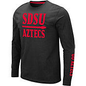 Colosseum Men's San Diego State Aztecs Streetcar Long Sleeve Black T-Shirt