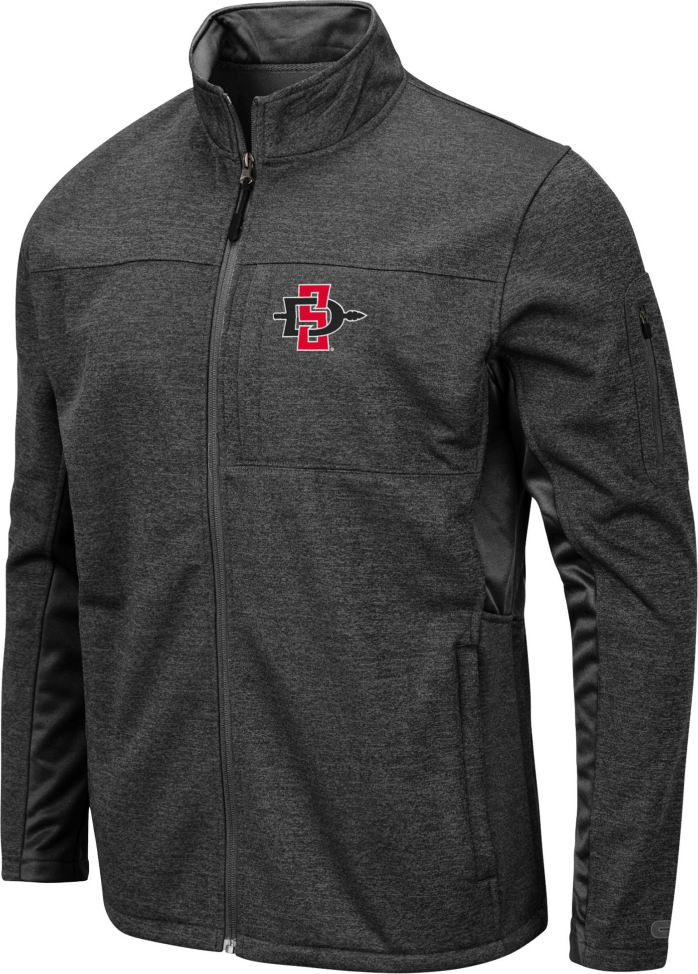 Colosseum Men's San Diego State Aztecs Grey Bumblebee Man Full-Zip Jacket