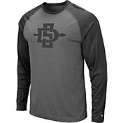 Colosseum Men's San Diego State Aztecs Grey Rad Tad Raglan Long Sleeve T-Shirt