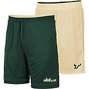 Colosseum Men's South Florida Bulls Green/Gold Wiggum Reversible Shorts